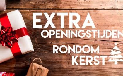 Extra openingstijden tijdens de feestdagen