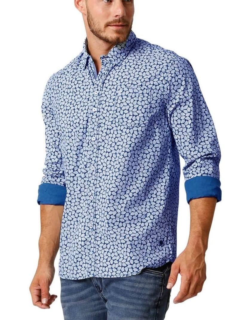 We Mannen Overhemd.Twinlife Sportieve Heren Overhemden 851632msh 6501