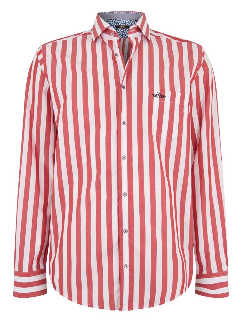 Rood Heren Overhemd.Heren Overhemd Hv Society 0404103106 Jamie Rood