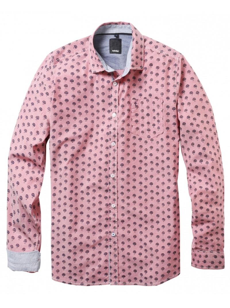 Heren Overhemd Casual.Twinlfie Casual Heren Overhemd 1901 2203 M 1 Rose