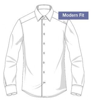 Modern fit Overhemden