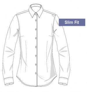 Slim fit Overhemden