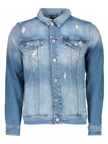 spijkerjas van cars jeans met used look