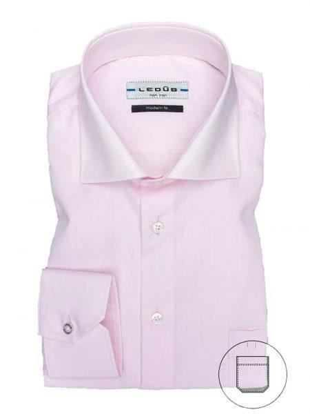 0023528-420-000-000a LeDub heren overhemd lichtroze strijkvrij