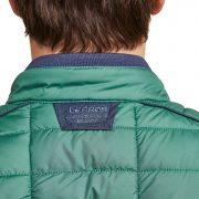 kraag van lerros gewatteerde jas groen