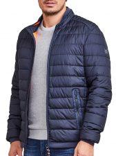 28D7010_485 gewatteerde heren jas in marine blauw