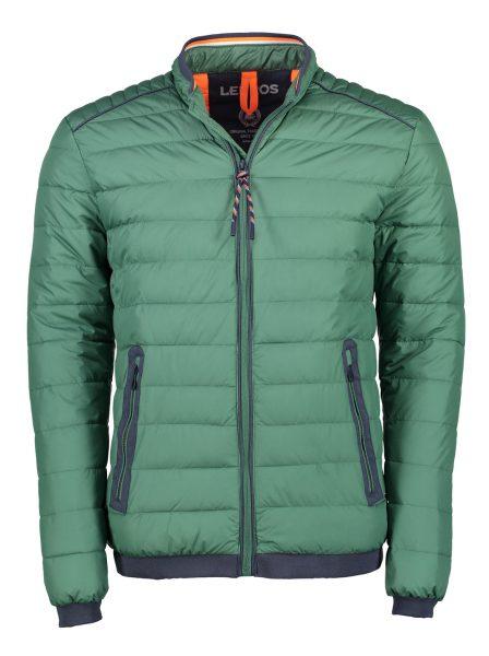 groene gewatteerde heren jas van lerros voorkant