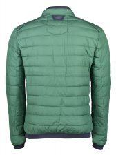 groene gewatteerde heren jas van lerros achterkant