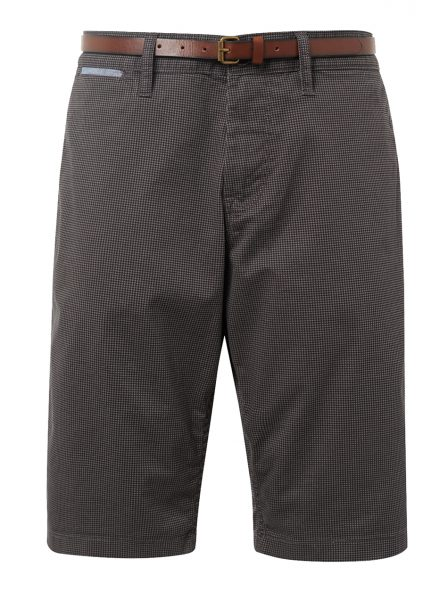 1007868_15906_7 tom tailor basic chino short donker grijs