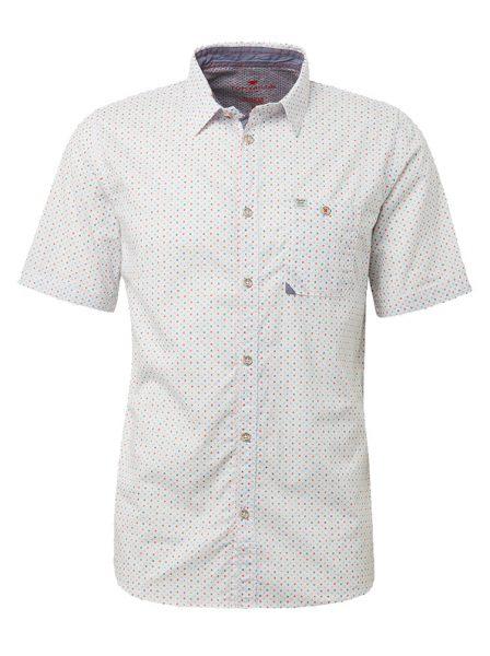 1010113_17153_7 Tom Tailor heren overhemd wit met korte mouw